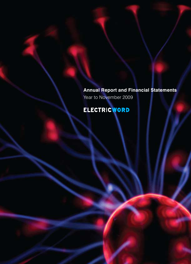 Electric Word   annual report