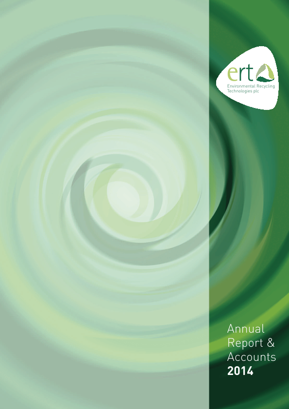 Environmental Recycling Technologies   annual report