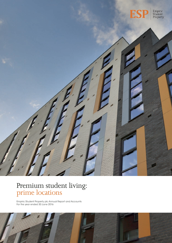Empiric Student Property Plc   annual report