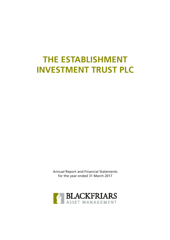 Establishment Investment Trust Plc   annual report