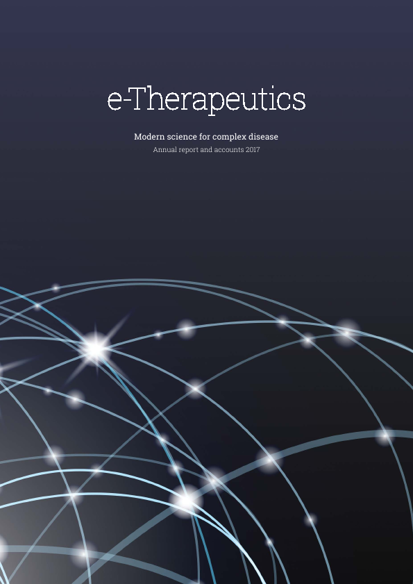 E-therapeutics Plc   annual report