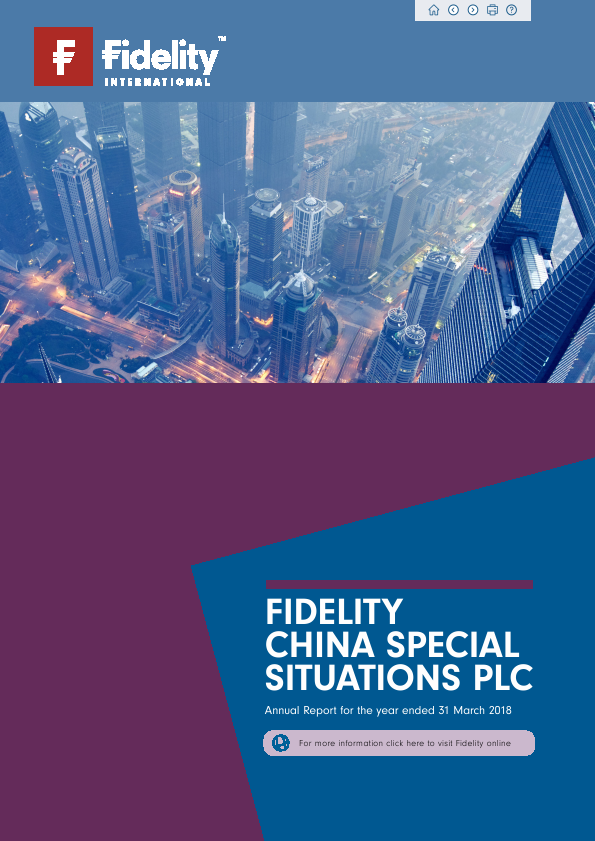 Fidelity China Special Situations   annual report