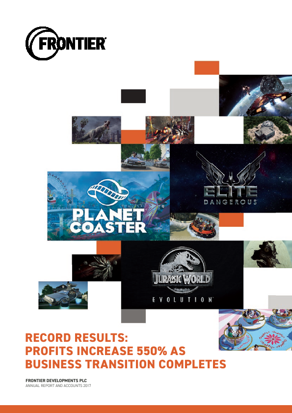 Frontier Developments Plc   annual report