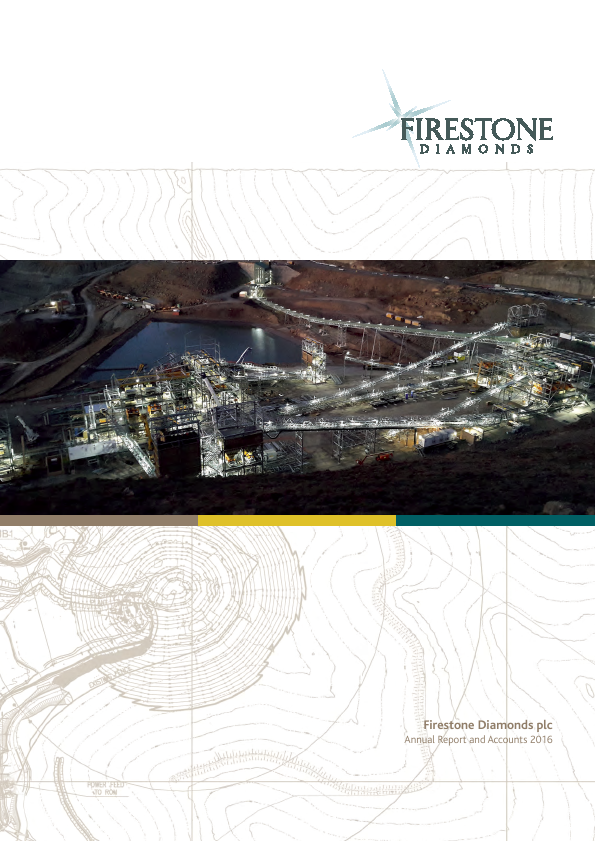 Firestone Diamonds   annual report
