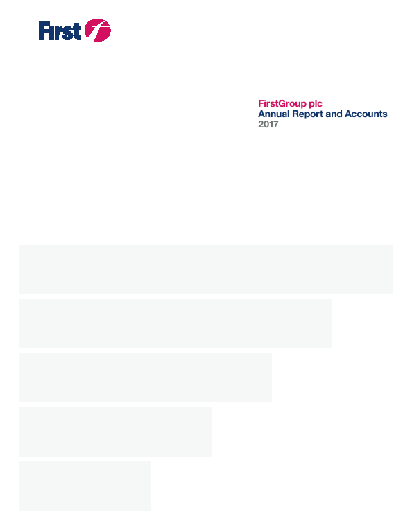 Firstgroup   annual report