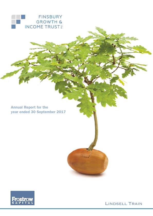 Finsbury Growth & Income Trust   annual report