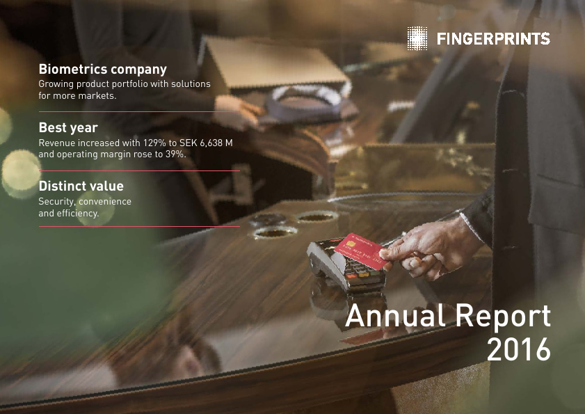 Fingerprint Cards   annual report