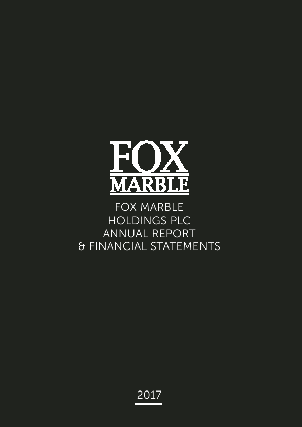 Fox Marble Holdings Plc   annual report