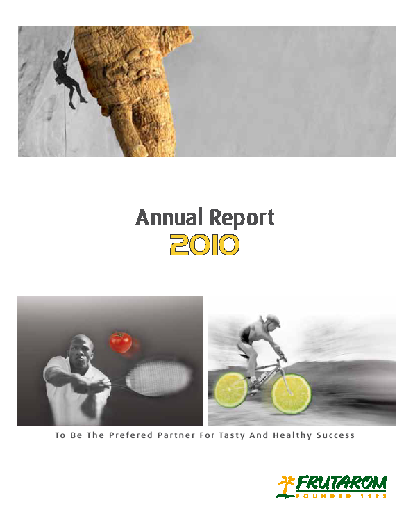 Frutarom Industries   annual report