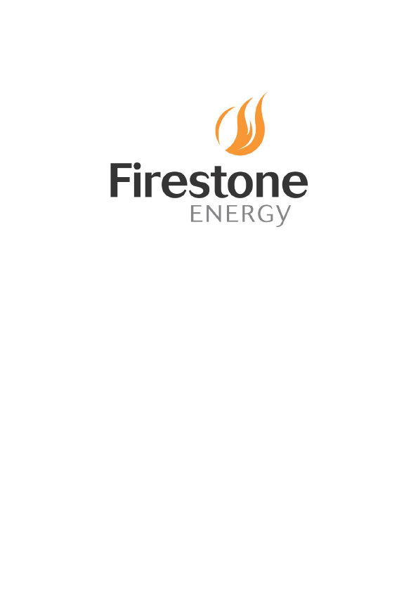 Firestone Energy   annual report
