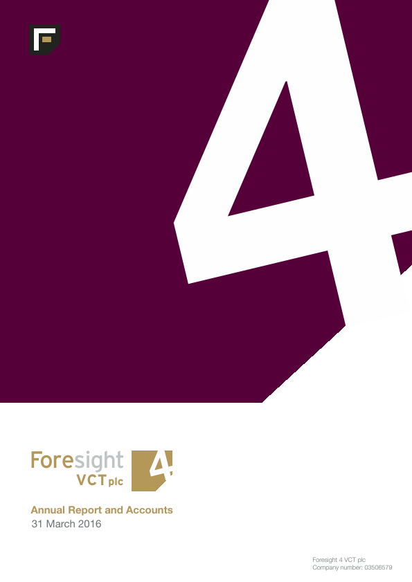 Foresight 4 VCT   annual report