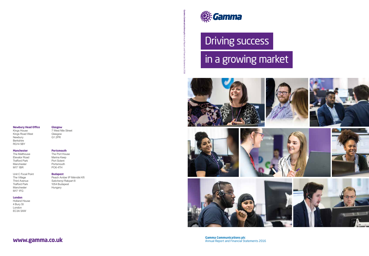 Gamma Communications Plc   annual report