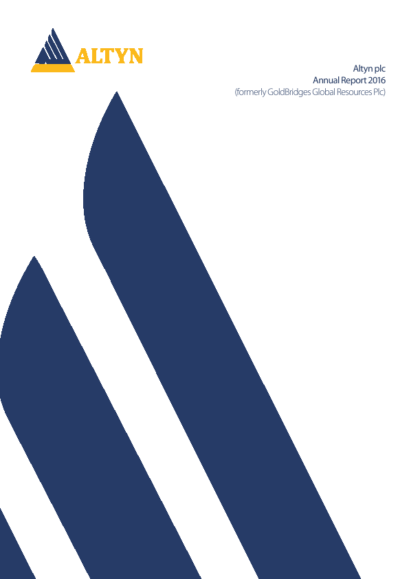 Altyn (previously Goldbridges Global Resources)   annual report