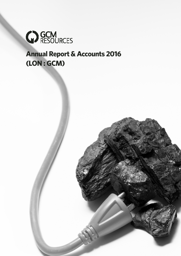Gcm Resources Plc   annual report