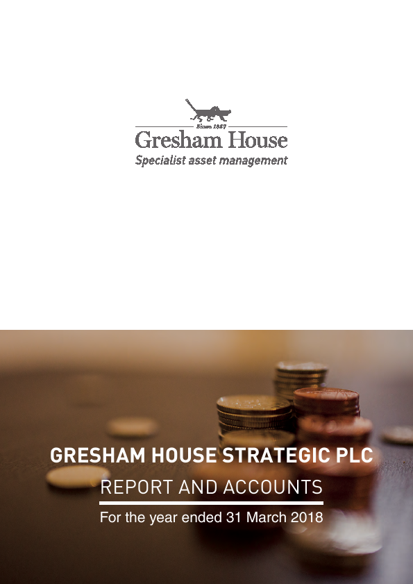 Gresham House Strategic   annual report