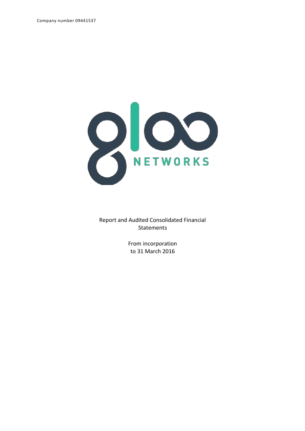 Gloo Networks Plc   annual report