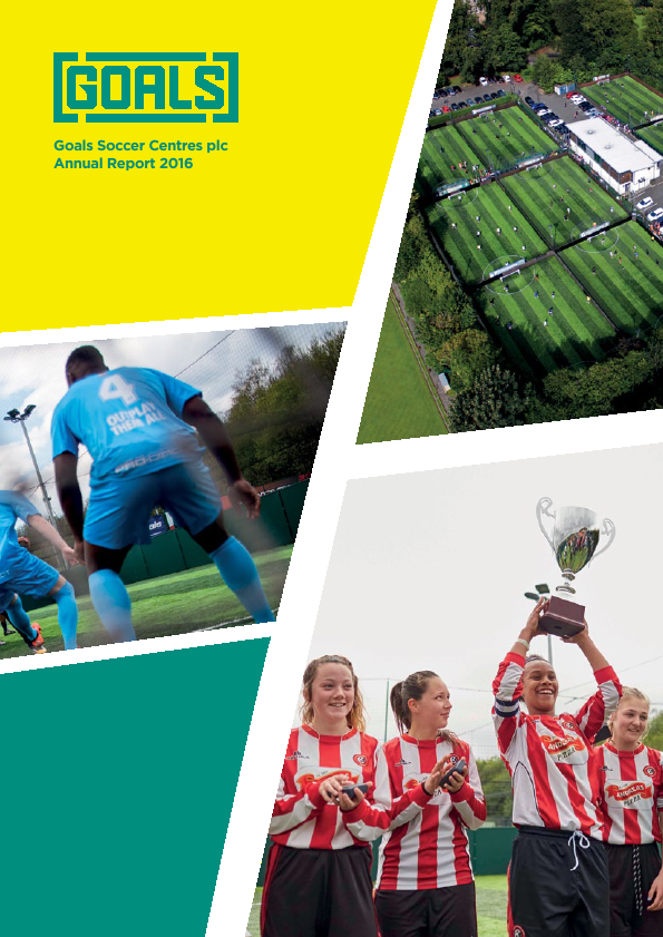 Goals Soccer Centres   annual report