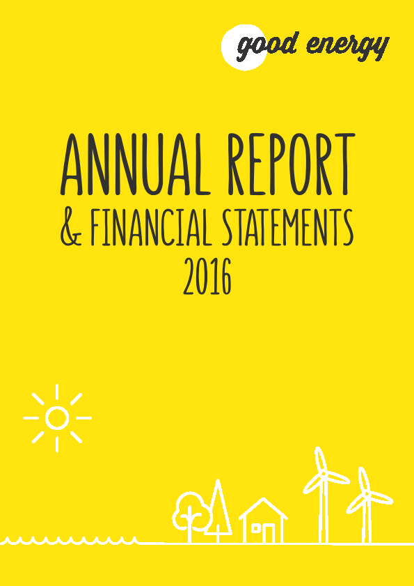 Good Energy Group Plc   annual report