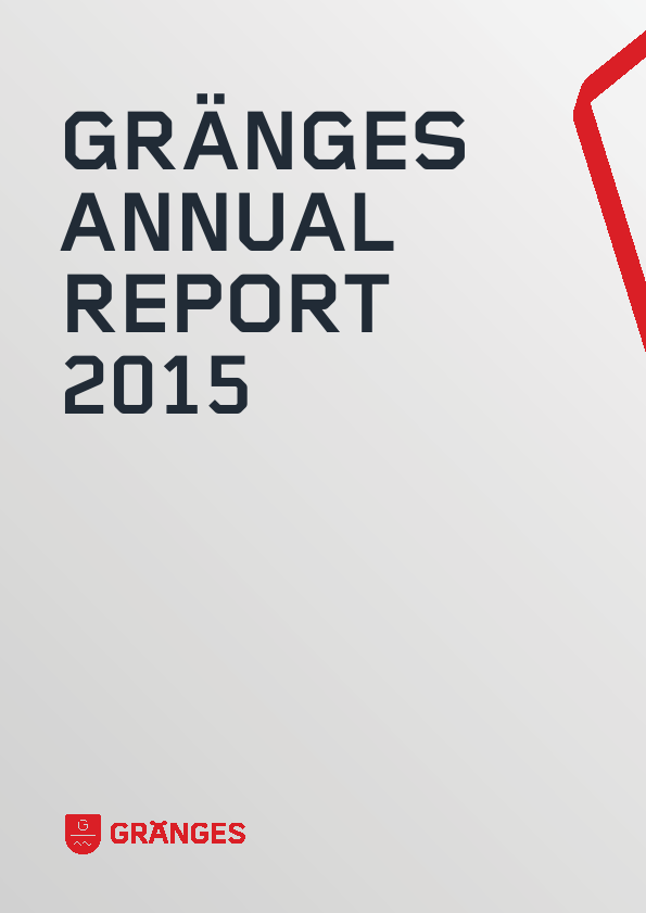 Gränges   annual report