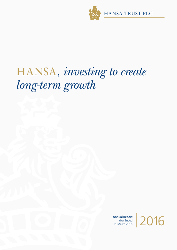 Hansa Trust   annual report