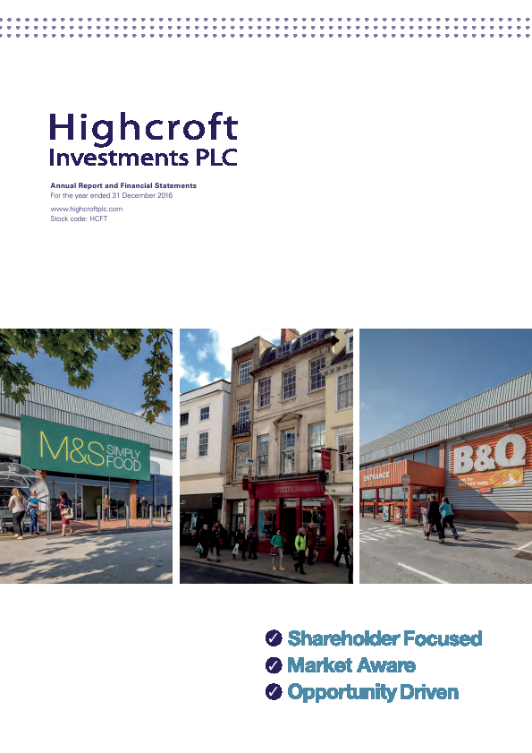 Highcroft Investments   annual report