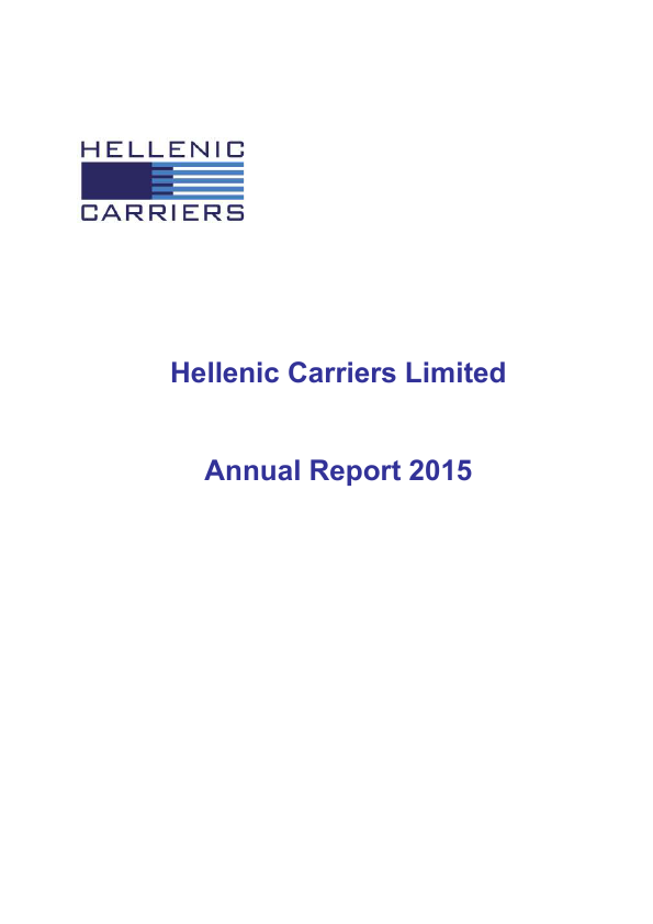 Hellenic Carriers   annual report