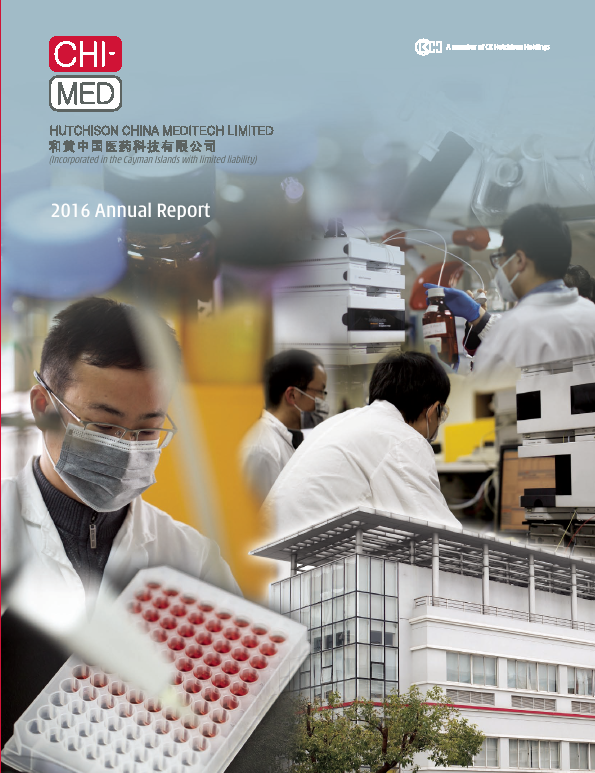 Hutchison China Meditech   annual report