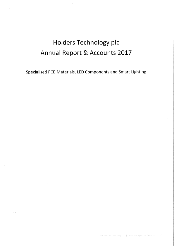 Holders Technology   annual report