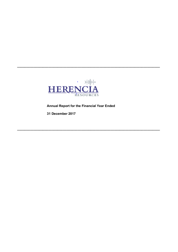 Herencia Resources   annual report