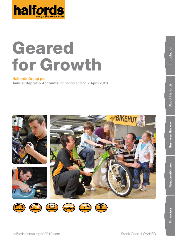 Halfords Group   annual report