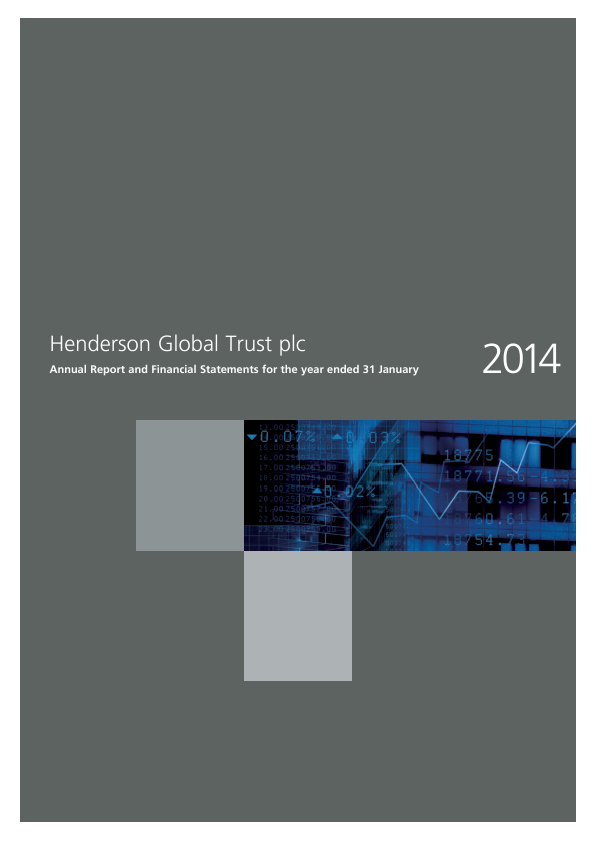 Henderson Global Trust Plc (merged with Henderson International Income Trust February 2016)   annual report