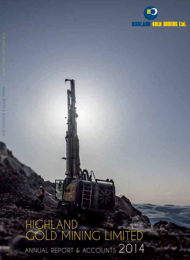 Highland Gold Mining   annual report