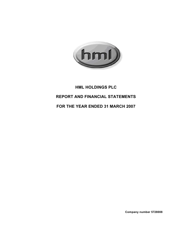 HML Holdings Plc   annual report