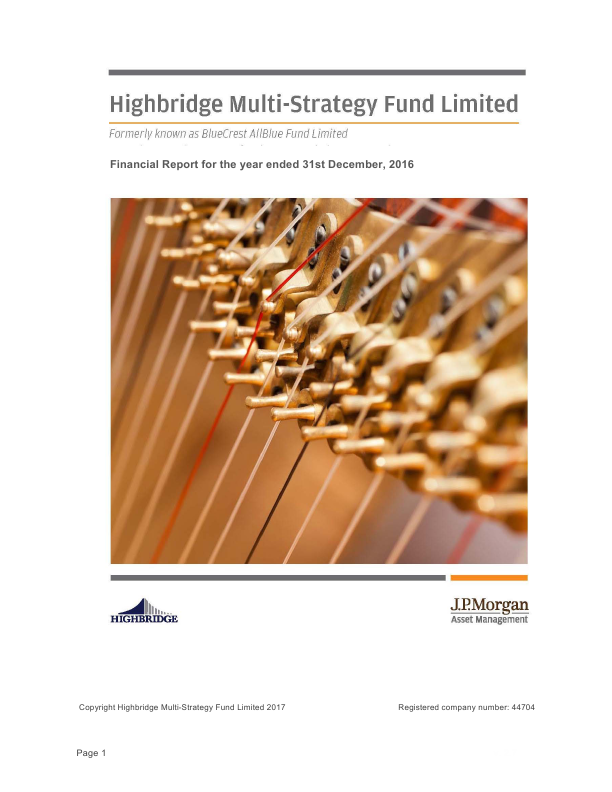 Highbridge Multi-Strategy Fund   annual report