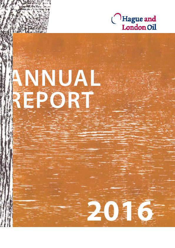 Hague & London Oil Plc   annual report