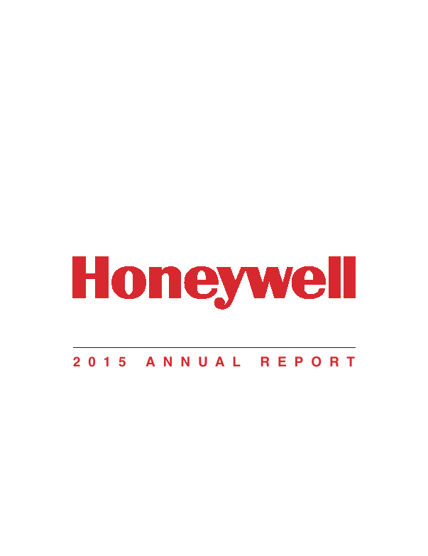 Honeywell International Inc   annual report