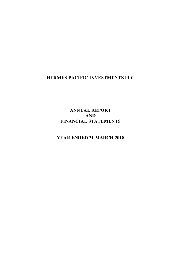 Hermes Pacific Investments Plc   annual report