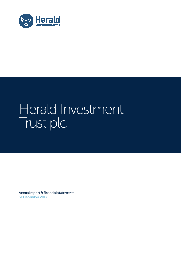 Herald Investment Trust   annual report