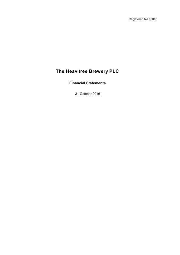Heavitree Brewery   annual report