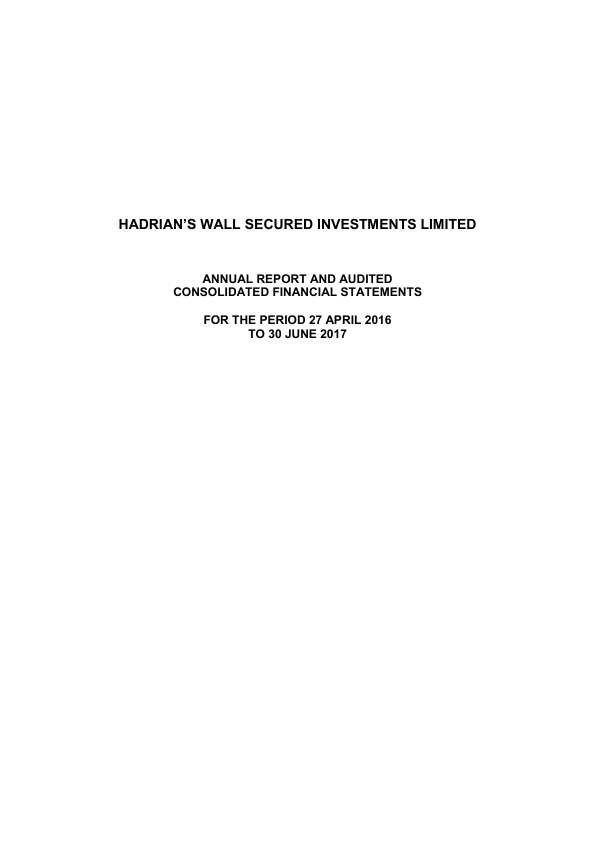 Hadrians Wall Secured Investments   annual report