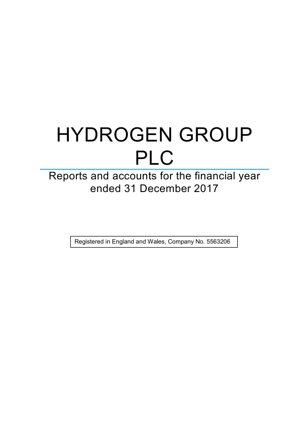 Hydrogen Group Plc   annual report