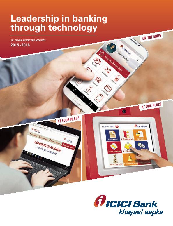 ICICI Bank   annual report