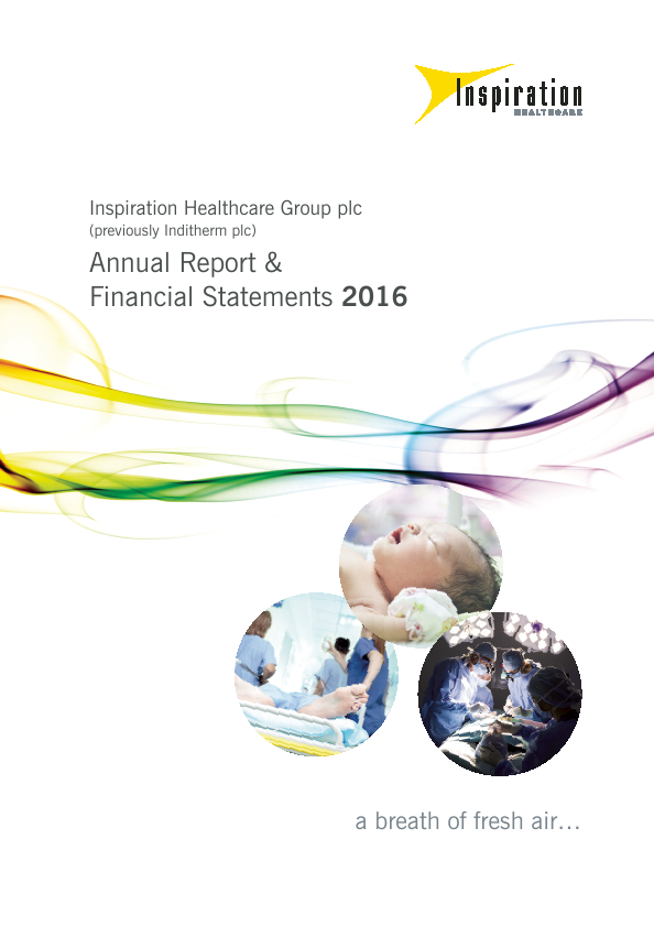 Inspiration Healthcare Group Plc   annual report