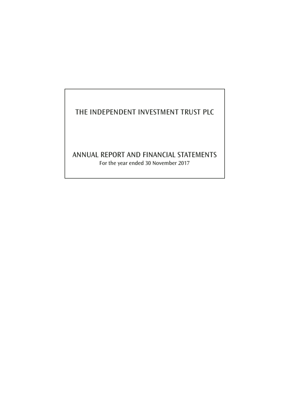 Independent Investment Trust(The)   annual report
