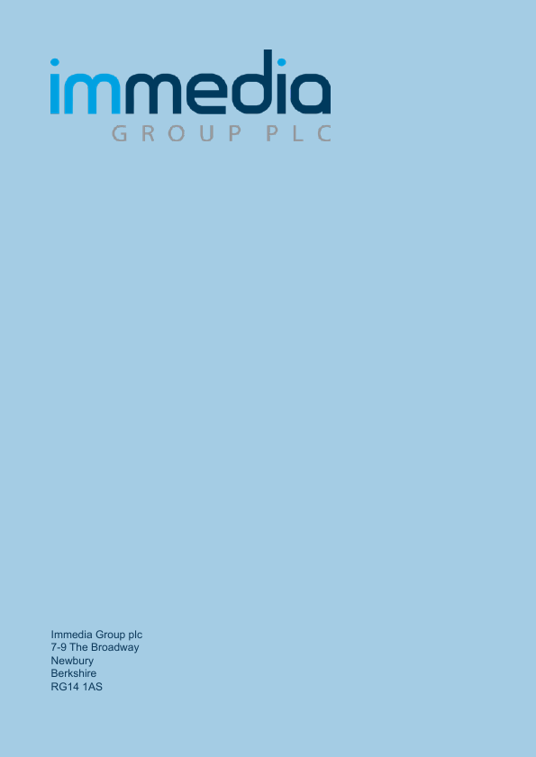 Immedia Group Plc   annual report