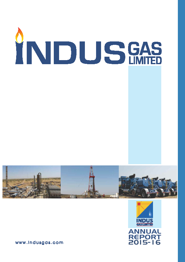 Indus Gas   annual report