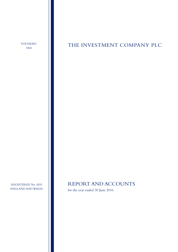The Investment Company   annual report