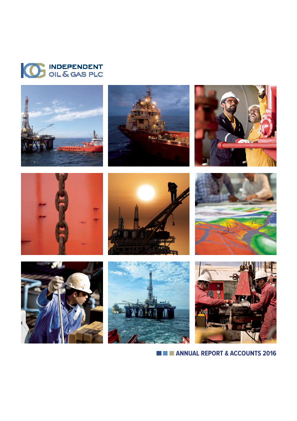 Independent Oil & Gas Plc   annual report