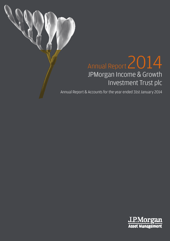 JP Morgan Inc & Growth Investment Trust Plc   annual report