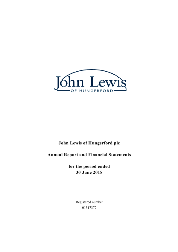 John Lewis Of Hungerford   annual report